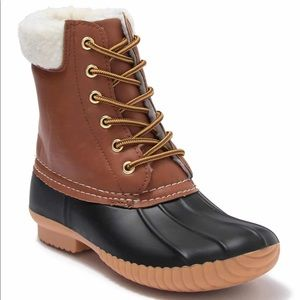 MIA LACE UP DUCK SHOES WEATHERPROOF BOOTS RG